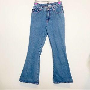 Vintage Playboy Bunny Flare Wide Leg Jeans Size 5
